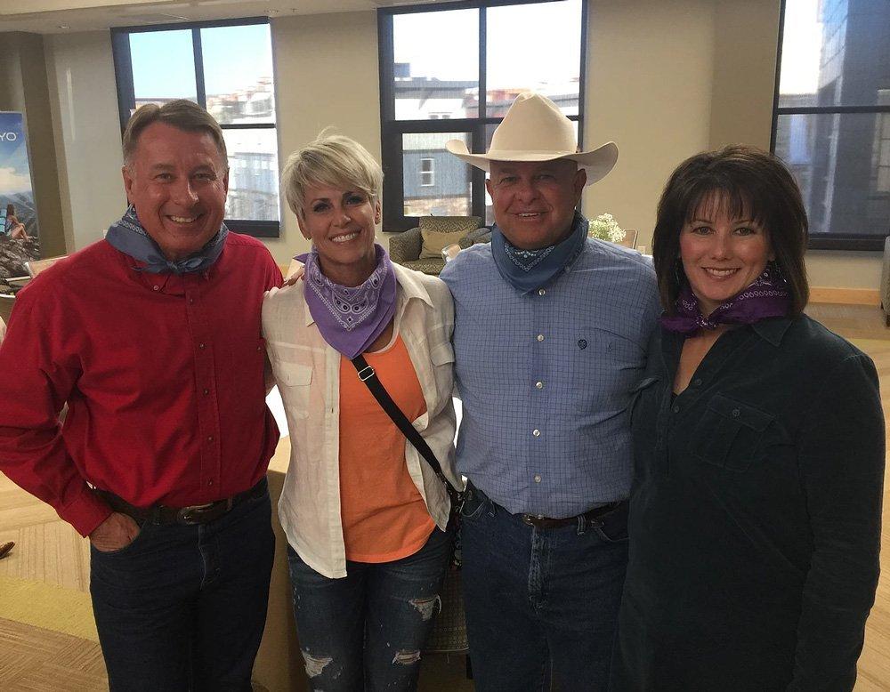Sieg Taylor & Deedrian Taylor with Dallin & Karree Larsen